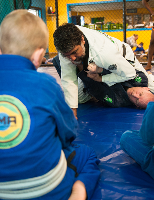 Braulio showing technique at the Kids Winter Camp at Corral's Martial Arts