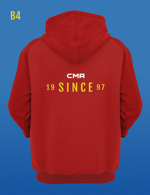 Since '97 back design for a red martial arts hoodie